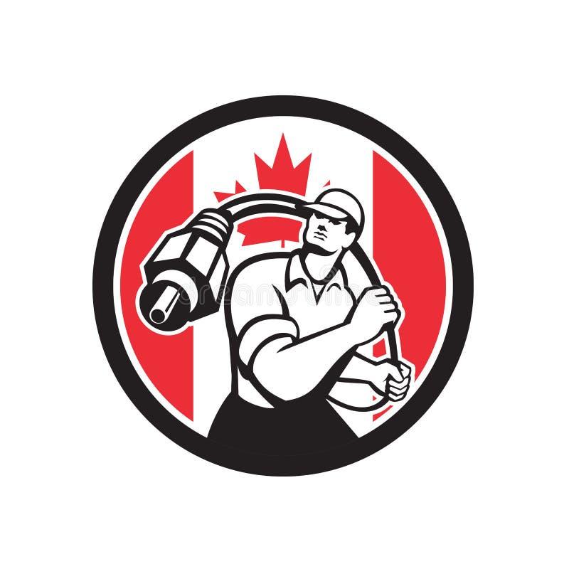 Kanadyjczyka Installer Kanada flaga Kablowa ikona ilustracja wektor