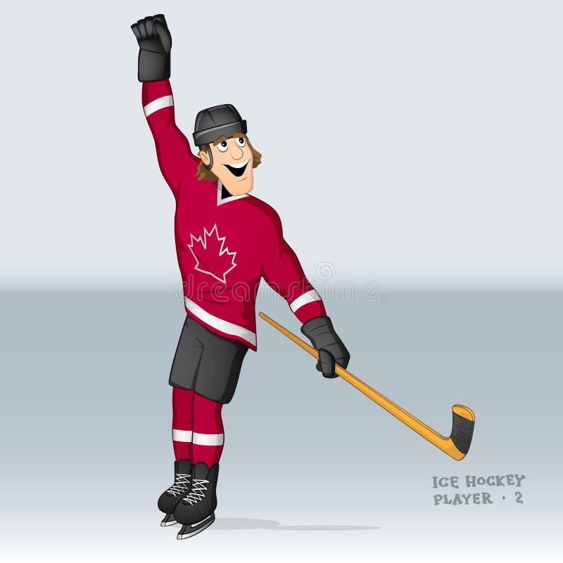 Kanadyjczyka lodowy gracz w hokeja ilustracja wektor