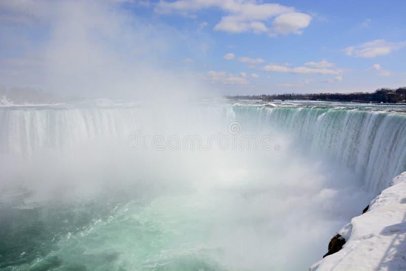 Kanadyjczyka Niagara spadki (Marznący) zdjęcia stock