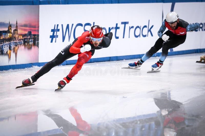Kanadyjska łyżwiarka Dubois Steven w akcji obrazy royalty free
