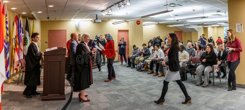 Kanadyjska obywatelstwo ceremonia zdjęcia royalty free