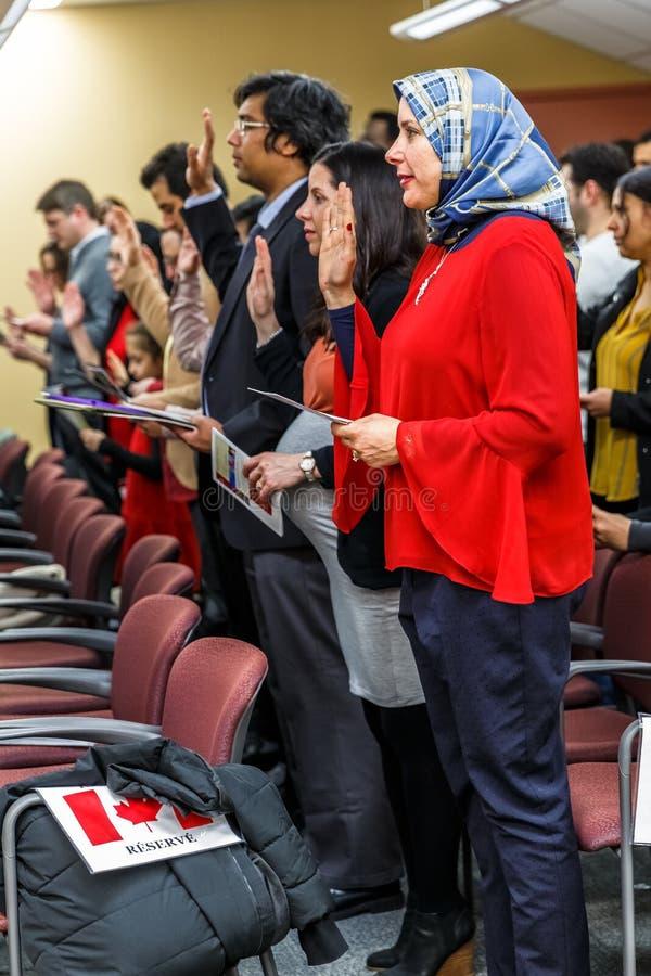 Kanadyjska obywatelstwo ceremonia zdjęcie royalty free