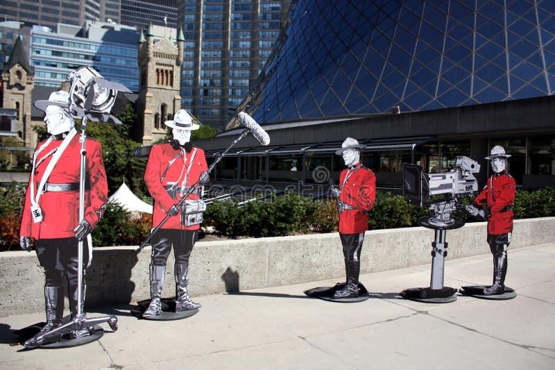 kanadyjska postać żołnierza tiff zdjęcia royalty free
