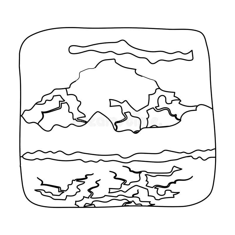Kanadyjska siklawa Kanada pojedyncza ikona w konturu stylu symbolu zapasu ilustraci wektorowej sieci ilustracja wektor