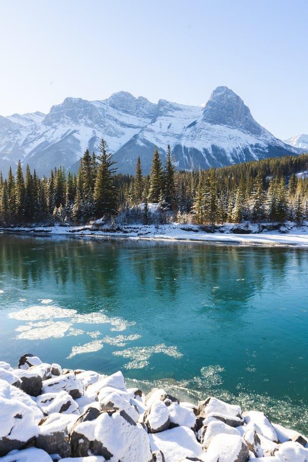 Kanadyjski krajobraz zimowy, Canmore, Alberta zdjęcie royalty free