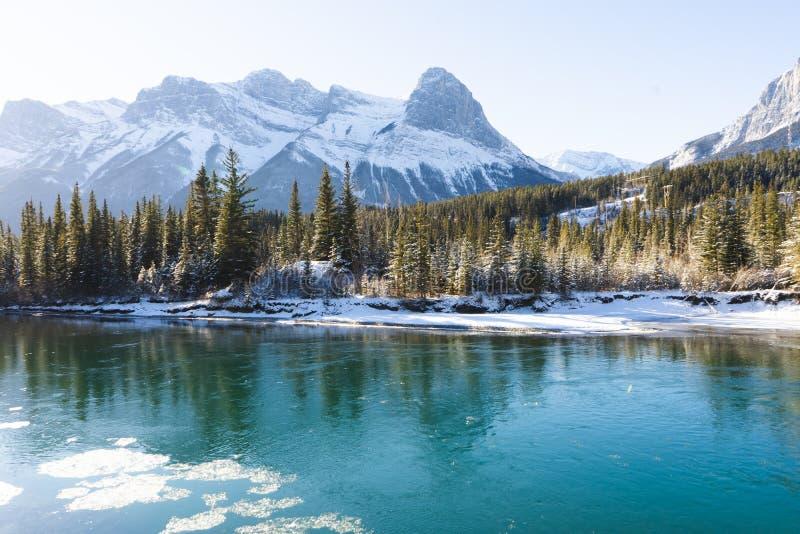 Kanadyjski krajobraz zimowy, Canmore, Alberta obraz royalty free