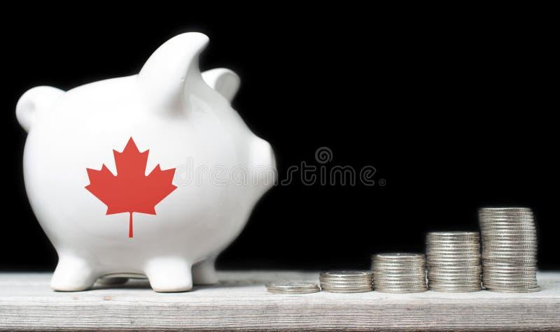 Kanadyjski oszczędzania pojęcie zdjęcia royalty free