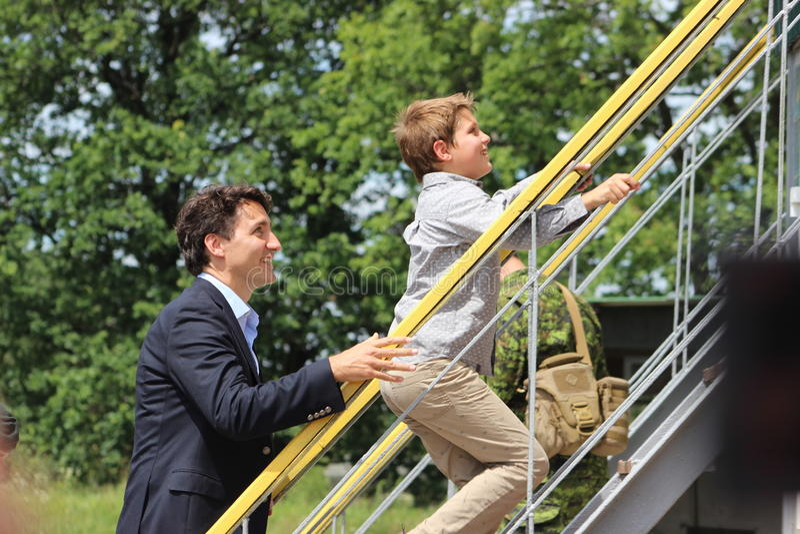 Kanadyjski Pierwszorzędny minister Justin Trudeau zdjęcia royalty free