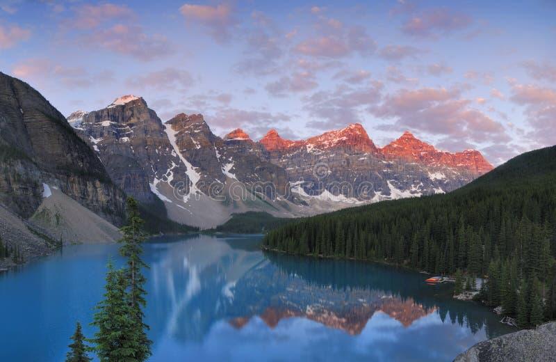 kanadyjski skalisty zmierzch zdjęcie royalty free