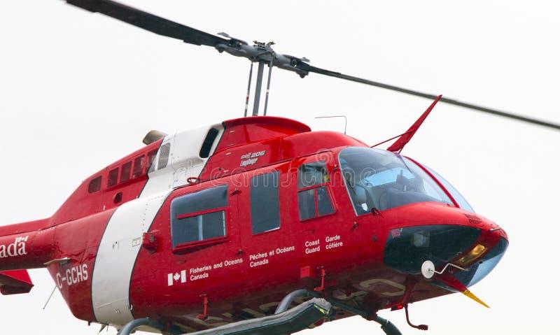 Kanadyjski straż przybrzeżna helikopteru zakończenie Up obrazy royalty free