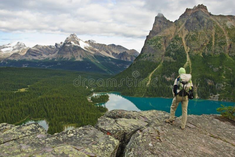 kanadyjski wycieczkowicz Rockies zdjęcie stock