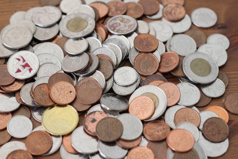 Kanadyjskie monety fotografia stock