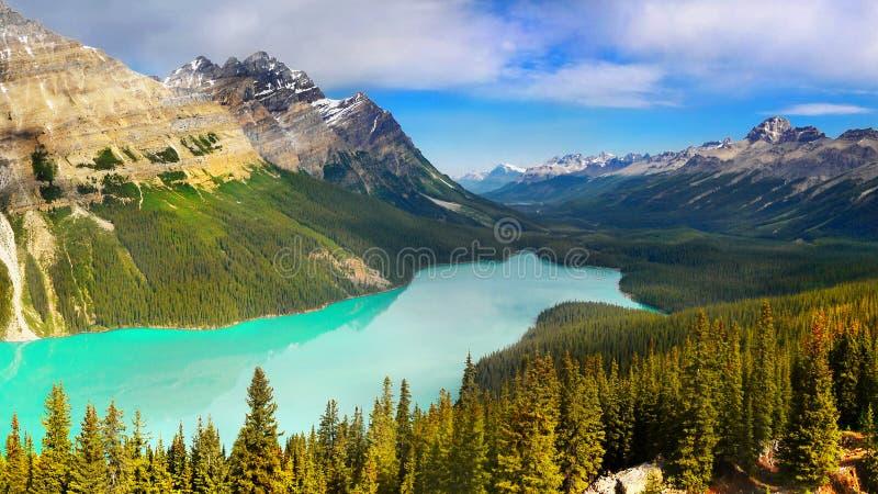 Kanadyjskie Skaliste góry i jeziora fotografia royalty free