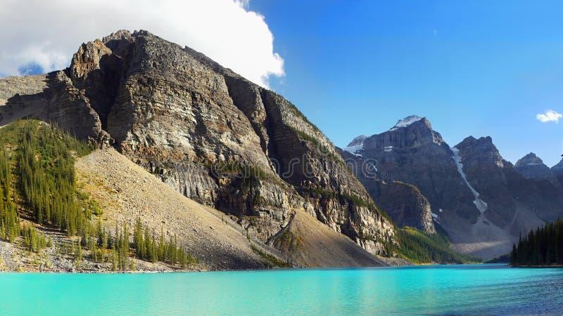 Kanadyjskie Skaliste góry, Morena jezioro zdjęcie royalty free