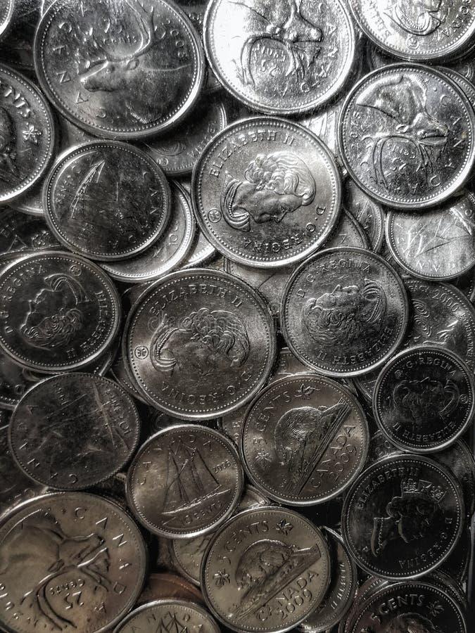 Kanadyjskie Srebne monety obrazy stock