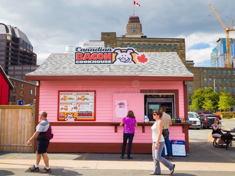 Kanadyjskiego bekonu Cookhouse obraz royalty free