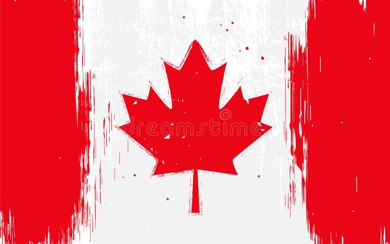 kanadyjskiej flagi royalty ilustracja
