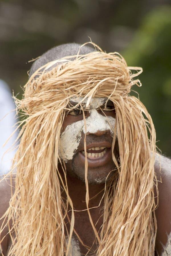 Kanak masculin dancer-5 images libres de droits