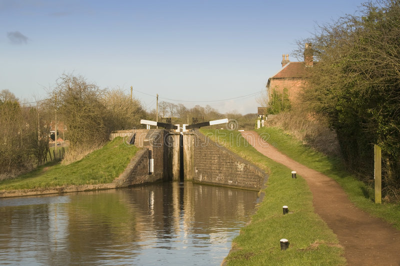 kanal arkivbild