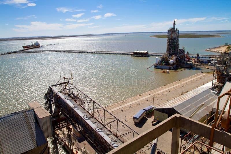 Kanal in Bahia-BLANCA, Argentinien. lizenzfreie stockfotos