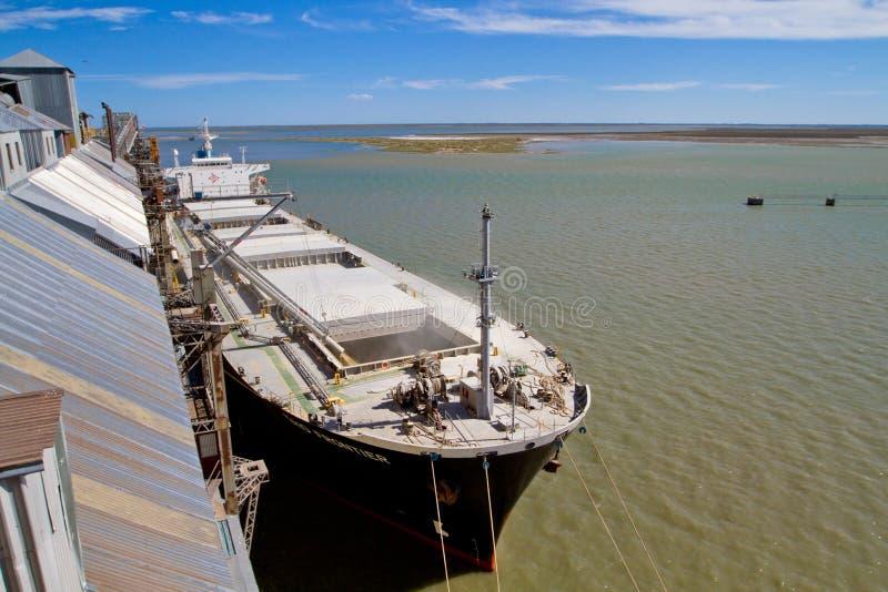 Kanal in Bahia-BLANCA, Argentinien. lizenzfreie stockfotografie