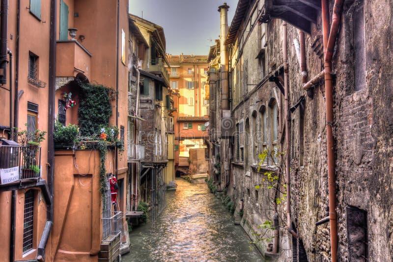 Kanal-Bologna - HDR lizenzfreies stockbild