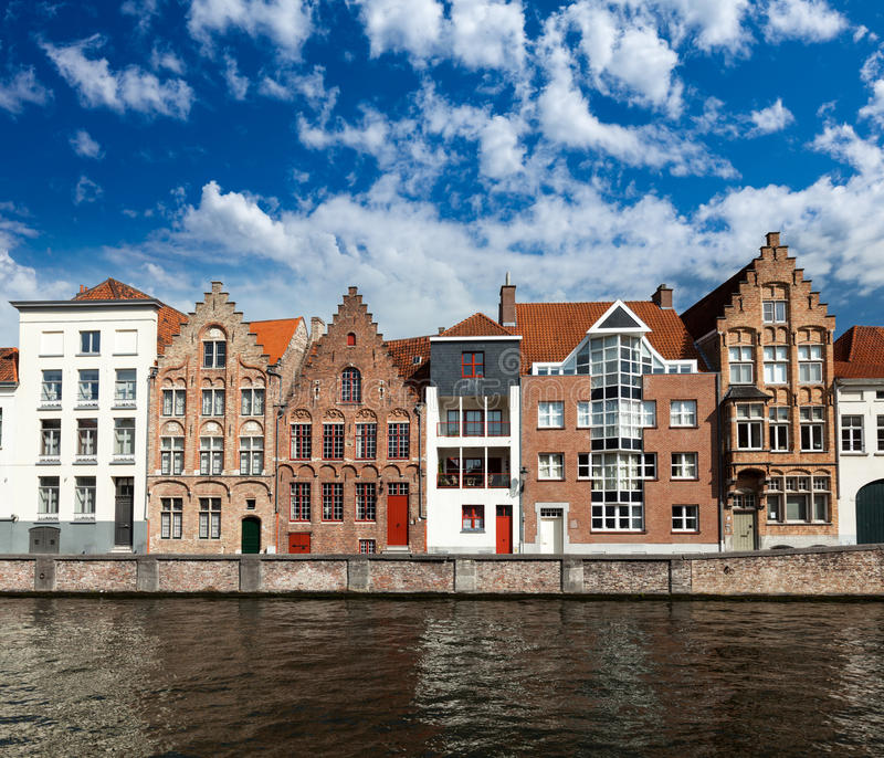 Kanal Brügge-(Brügge), Belgien stockbild