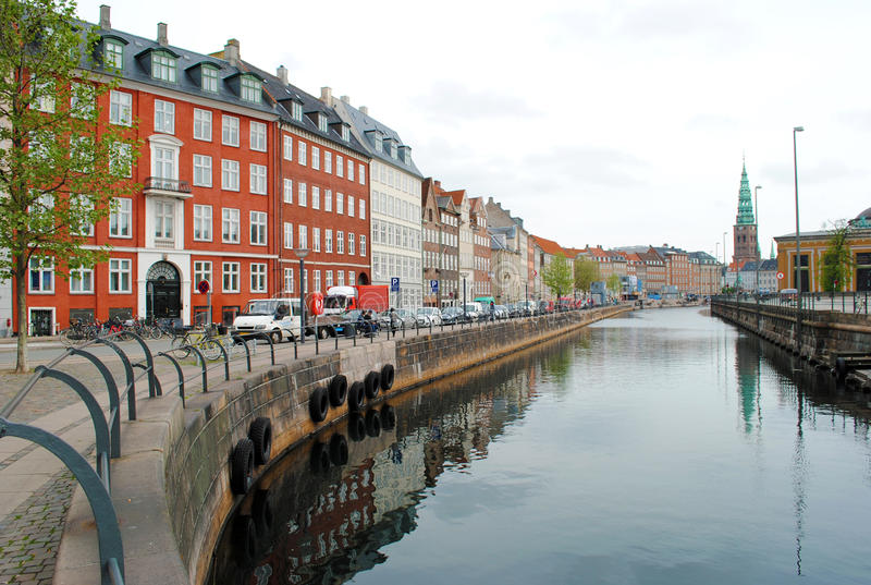 kanal copenhagen royaltyfri foto