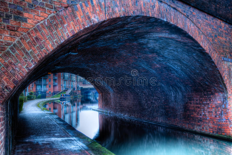 Kanal in England stockfotografie
