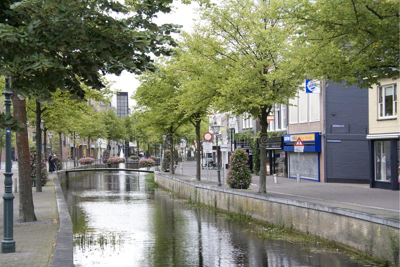 Kanal in Heerenveen lizenzfreie stockbilder