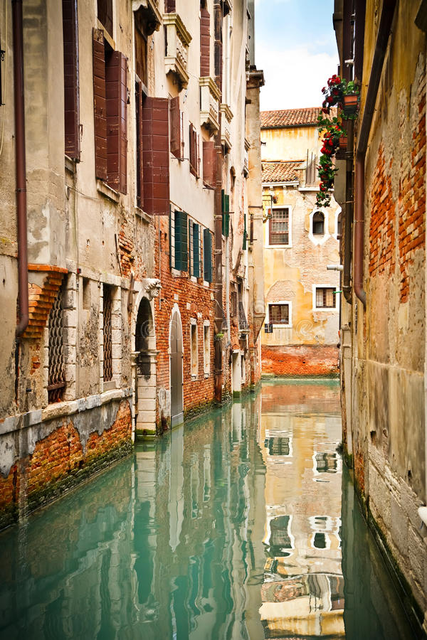 Kanal In Venedig Stockbild