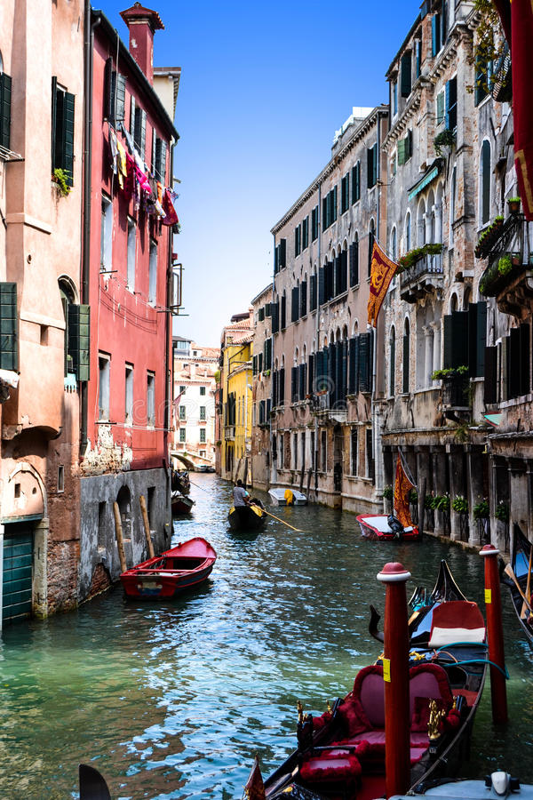 Kanal - Venedig arkivfoton