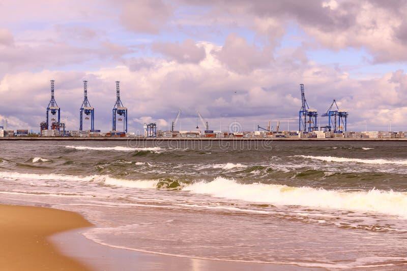 Kanal von Gdansk lizenzfreie stockfotos