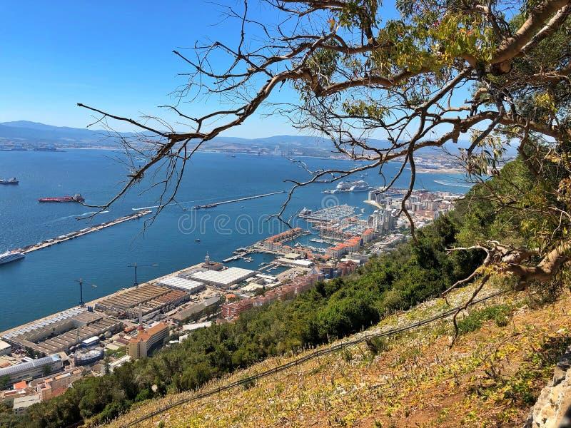 Kanal von Gibraltar lizenzfreie stockfotografie