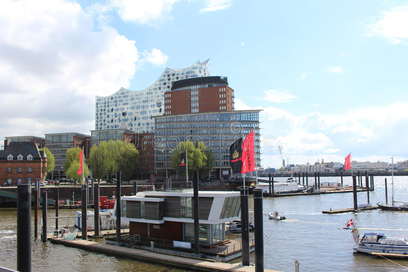 Kanal von Hamburg stockfoto