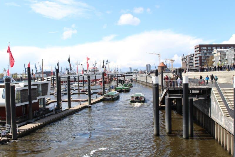 Kanal von Hamburg stockfotos