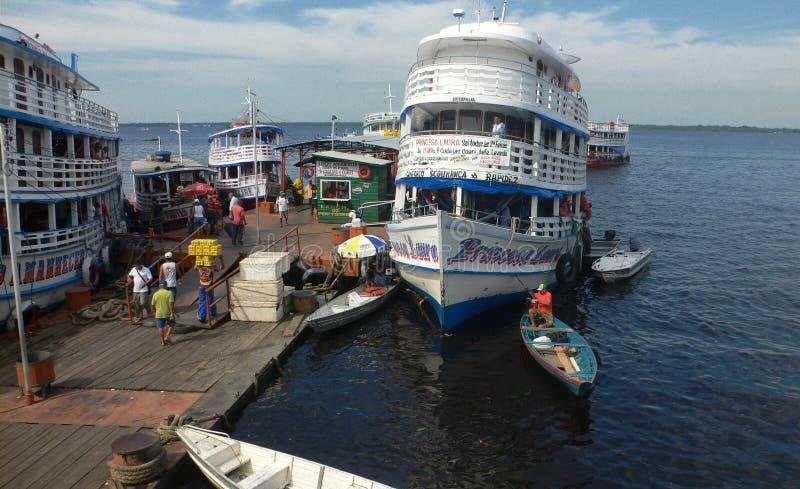 Kanal von Manaus stockbild