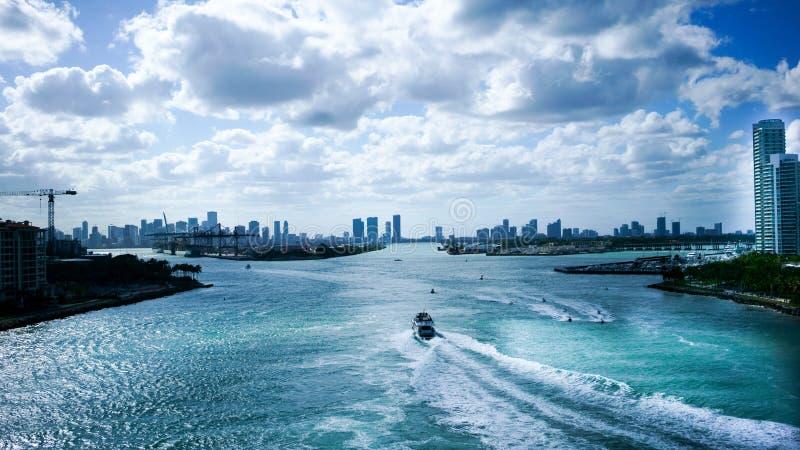 Kanal von Miami lizenzfreie stockfotografie