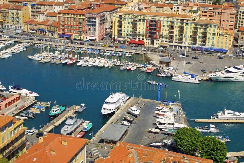 Kanal von Nizza stockbild