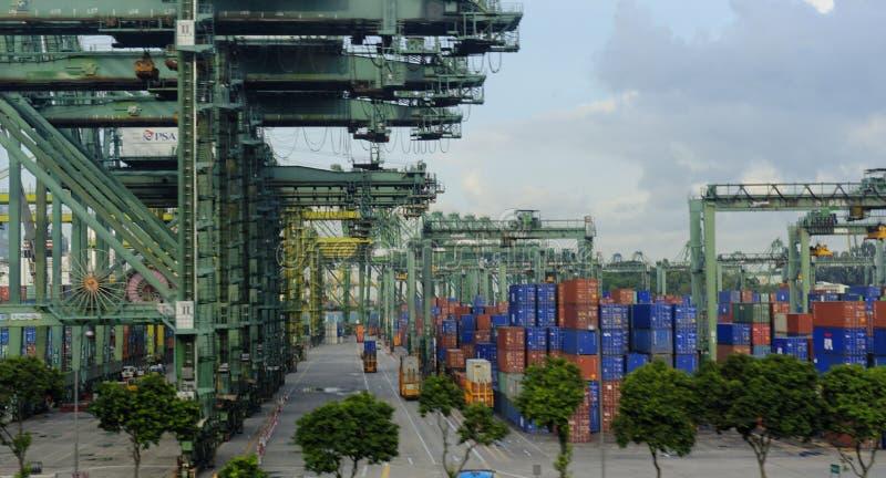Kanal von Singapur lizenzfreie stockfotografie