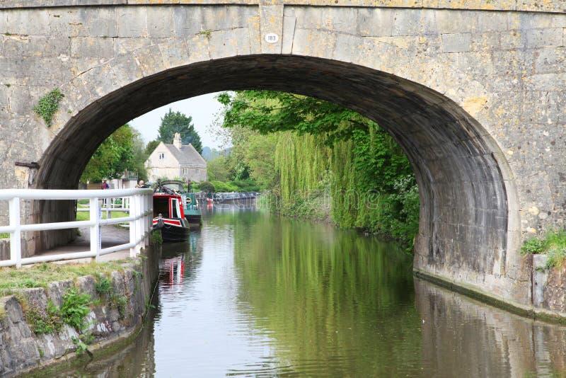 Kanalboot stockfotos