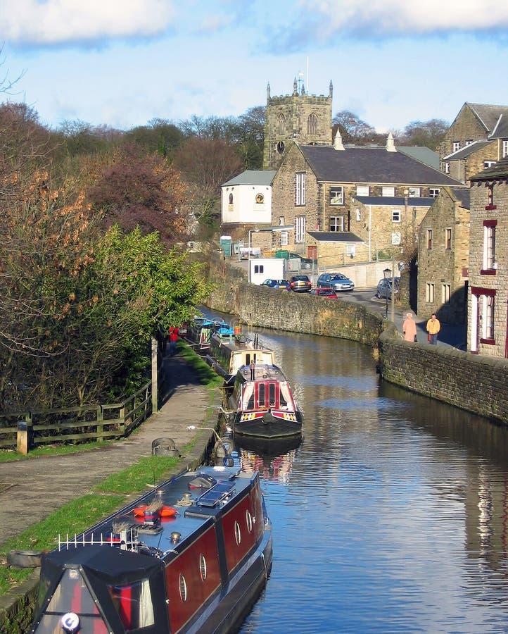 Kanalboote stockbild