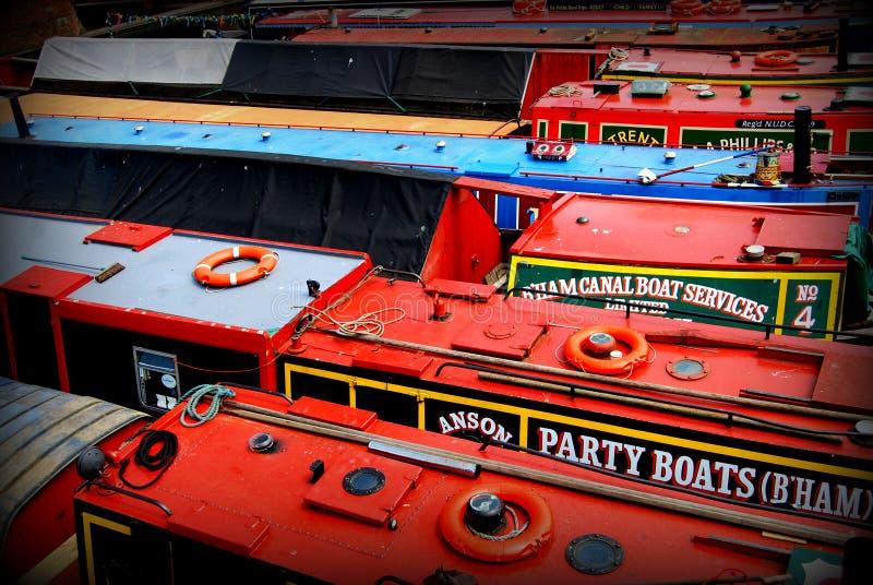Kanalboote stockfoto