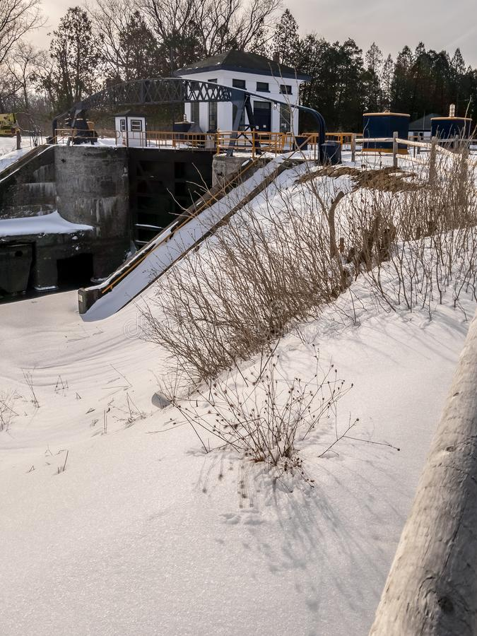 Kanaldelstatspark för lås 20 arkivbilder