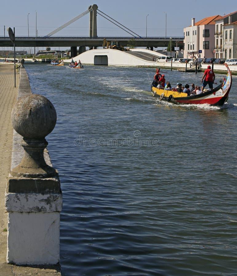 Kanalen av staden av Aveiro royaltyfri fotografi