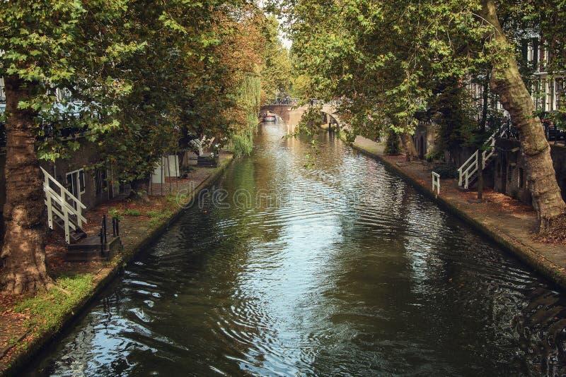 Kanalen van de oude stad stock fotografie