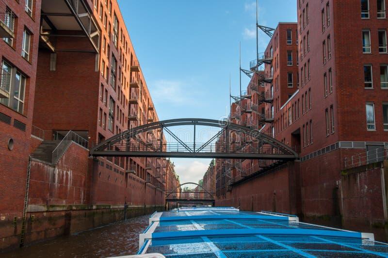 Kanalen van Hamburg Duitsland stock afbeeldingen