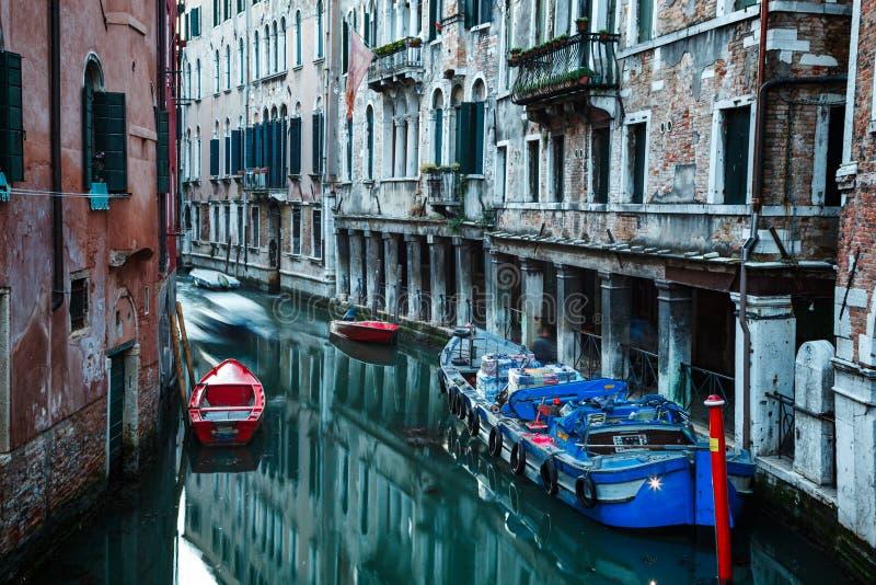 Kanalen van Venetië Italië stock afbeelding