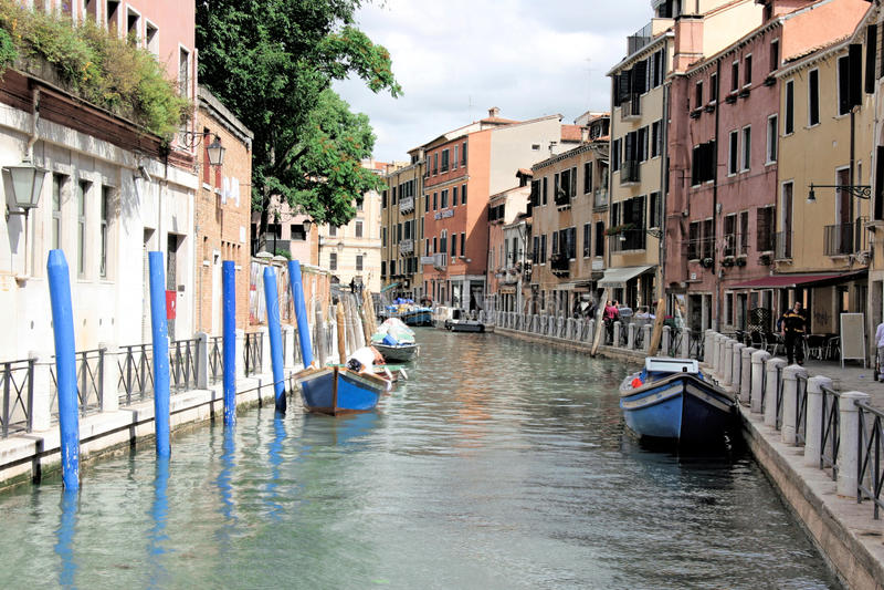 Kanalen, Venetië, Italië stock fotografie