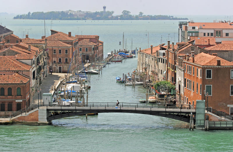 Kanalen, Venetië, Italië stock foto's